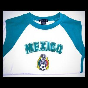 Mexico Soccer Fan Shirt Apparel Womens Kids Large
